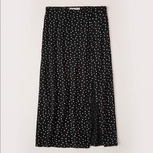 High slit midi skirt